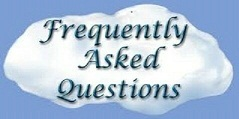 50 PERCENT SIZE      ----          FREQUENTLY  ASKED  QUESTIONS   ---  CLOUD THOUGHT BUBBLE